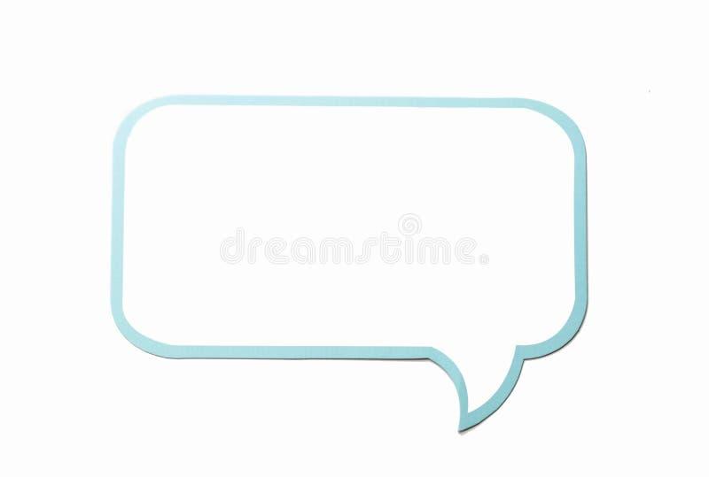 Anförandebubblan som ett moln med blått gränsar isolerat på vit bakgrund kopiera avstånd vektor illustrationer