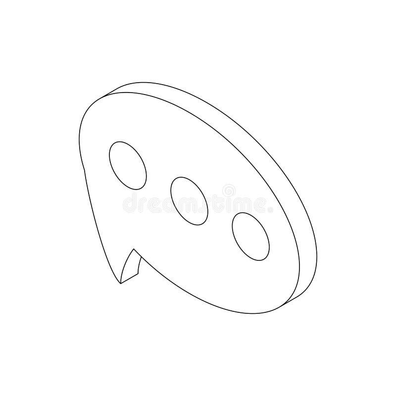 Anförandebubblasymbol, isometrisk stil 3d royaltyfri illustrationer