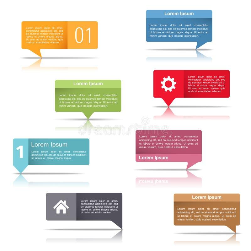 Anförandebubblor stock illustrationer