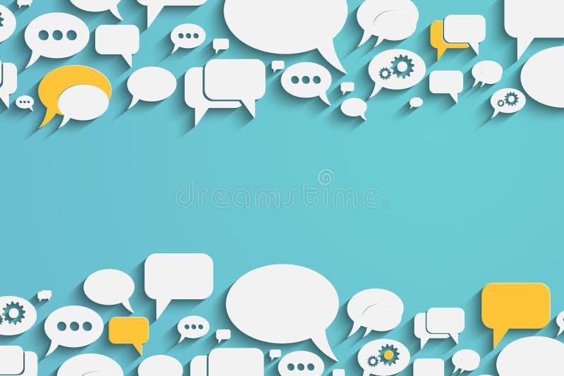 Anförandebubblor och dialogballonger stock illustrationer