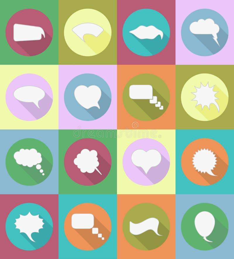 Anförandebubblor sänker symbolsvektorillustrationen stock illustrationer