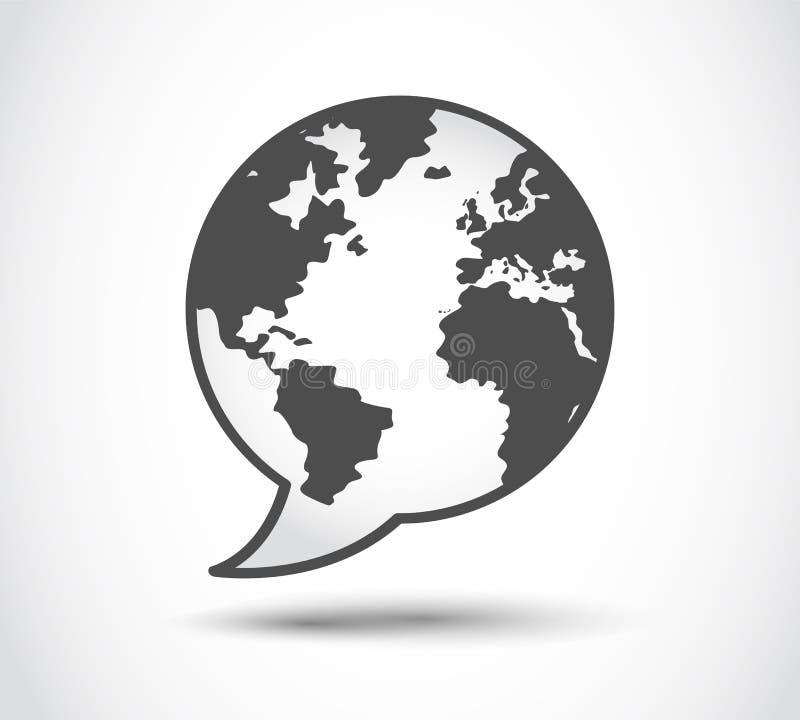 Anförandevärldslogo stock illustrationer