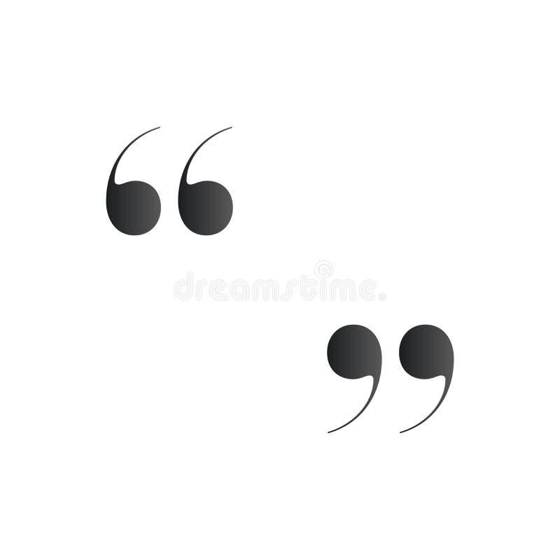 anf?hrungsstriche Anführungszeichen oder Symbol, Vektorillustration lokalisiert auf weißem Hintergrund lizenzfreie abbildung