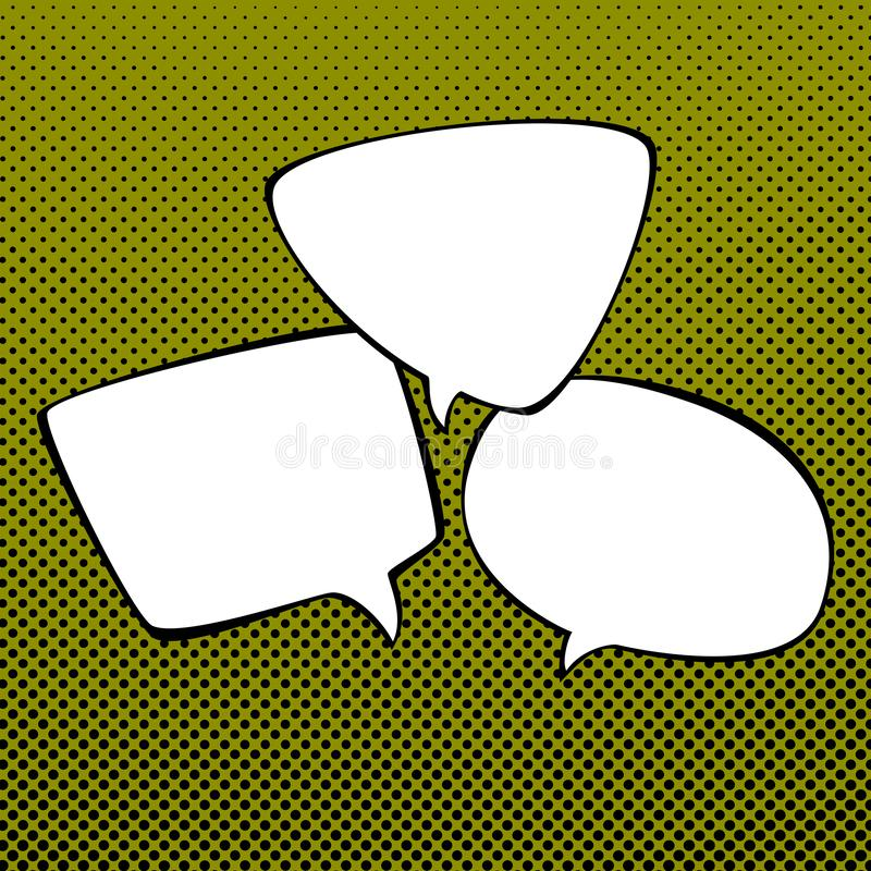Anf?rande bubblar p? popet Art Background vektor illustrationer