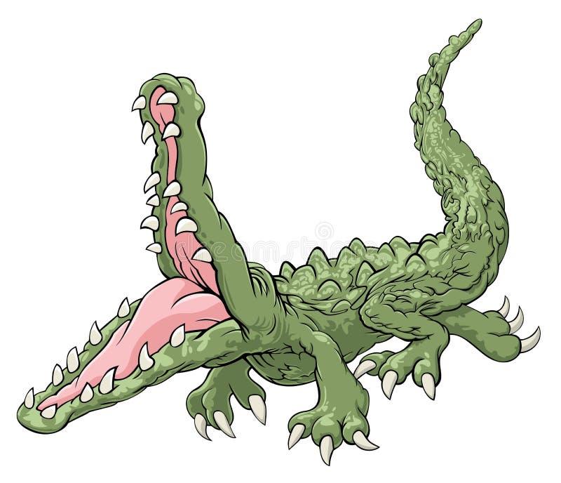anfalla krokodil vektor illustrationer
