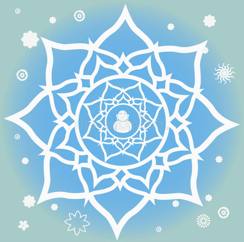 Anfang der Frühlings-Mandala stock abbildung
