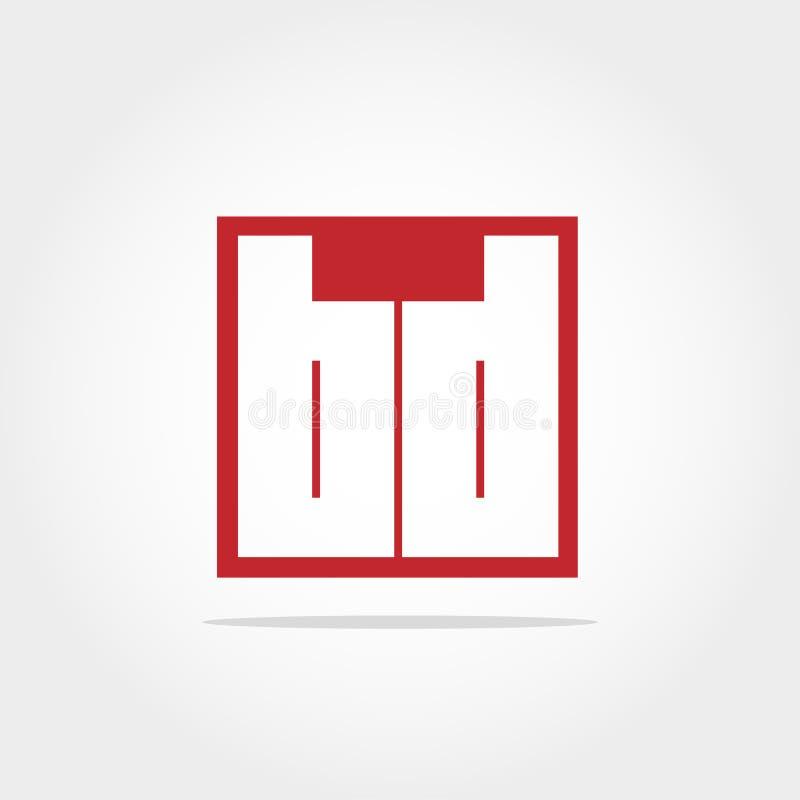 Anfangsbuchstabe BD Logo Template Vector Design lizenzfreie abbildung