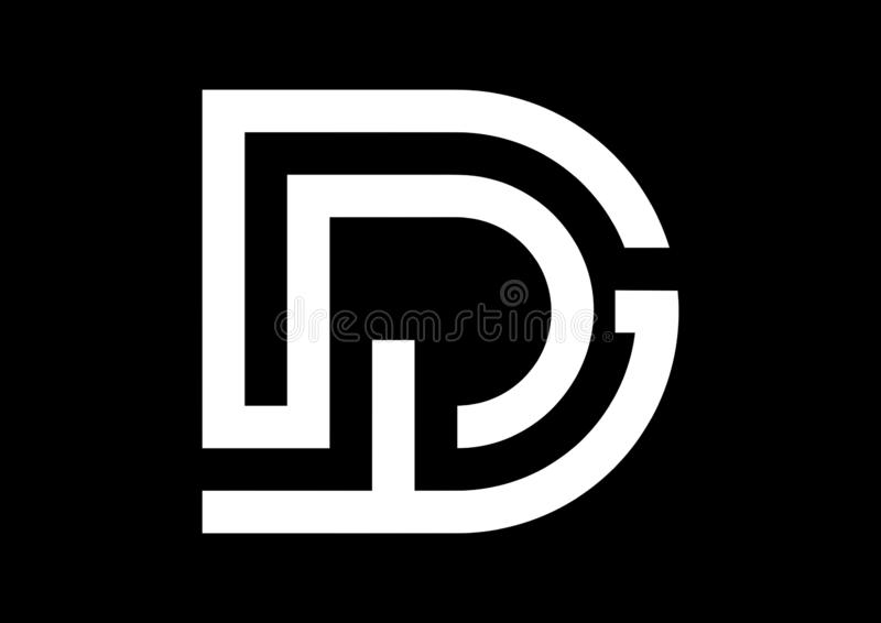 Anfangsbuchstaben TD-Papierlösekorotron-Vektor-Logo vektor abbildung