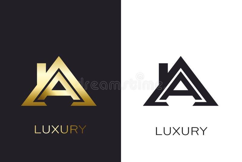 Anfangshaus Real Estates A Logo für Geschäft vektor abbildung