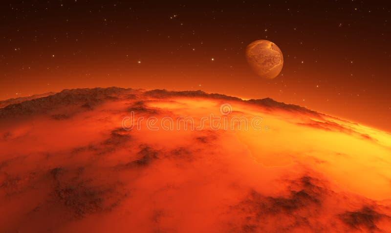 Anfangsstadien der Planetenbildung stock abbildung