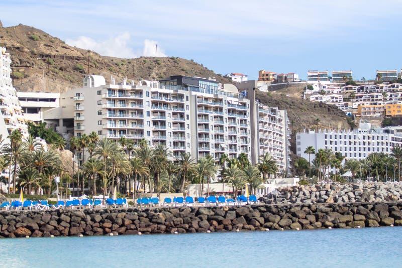 Anfi Del Mar, ilha de Gran Canaria, Espanha fotografia de stock royalty free
