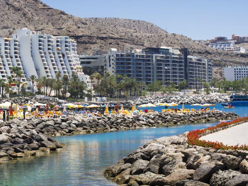 Anfi Del Mar strand arkivbild