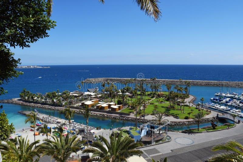 Anfi felMst strand, ö av Gran Canaria, Spanien arkivfoton