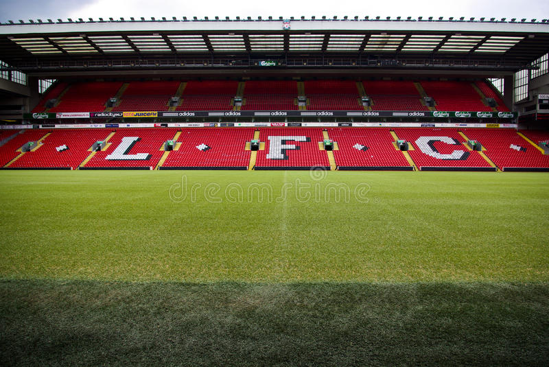 Anfield Stadion lizenzfreie stockfotografie