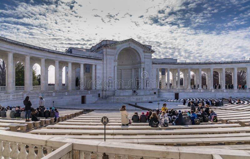 Anfiteatro al cimitero nazionale di Arlington fotografie stock libere da diritti