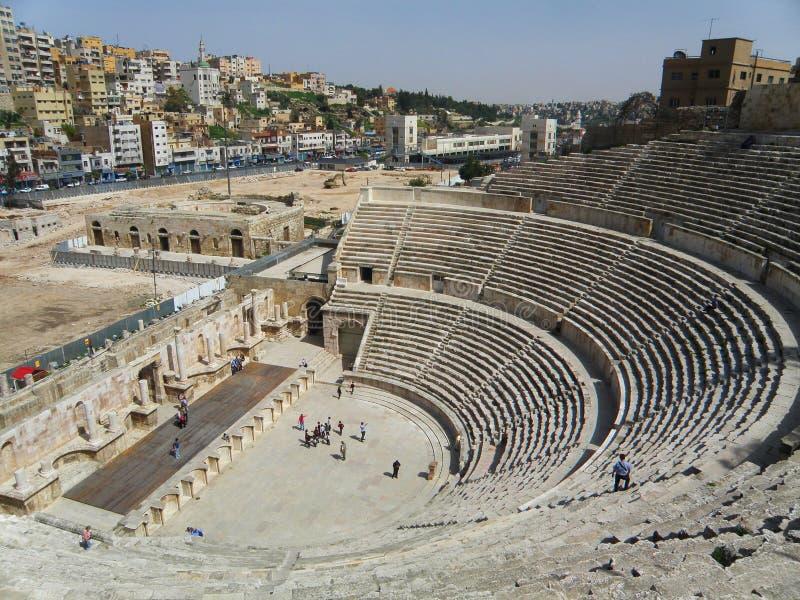 Anfiteatro antigo de Amman imagens de stock