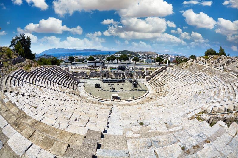 Anfiteatro antigo em Bodrum imagem de stock