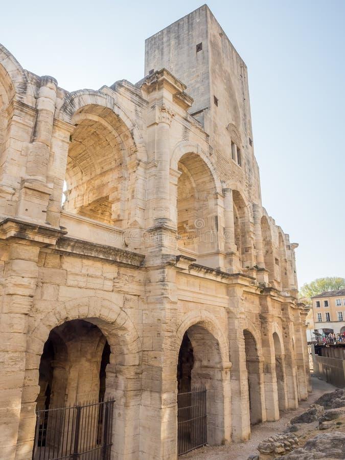 Anfiteatro in Arles, Francia immagini stock