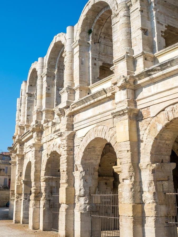 Anfiteatro in Arles, Francia immagine stock