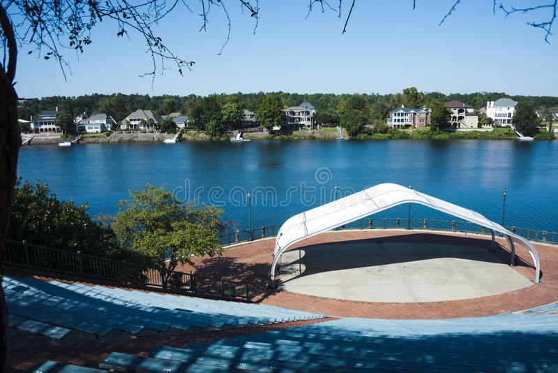 Anfiteatro a Augusta, Georgia fotografia stock