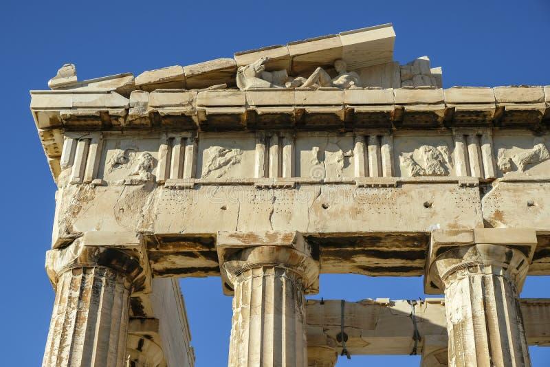 Anfiteatro da acrópole em Atenas, Grécia fotografia de stock