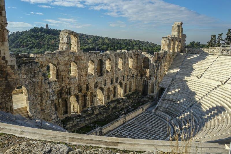 Anfiteatro da acrópole em Atenas, Grécia imagem de stock royalty free