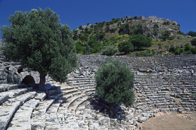 Anfiteatro de Kaunos fotos de stock