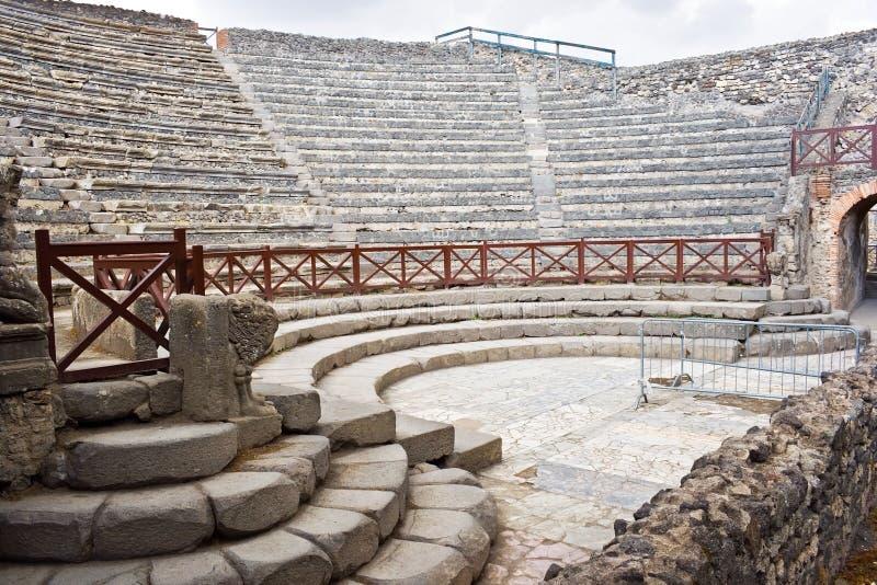 Anfiteatro de Pompeii fotografía de archivo