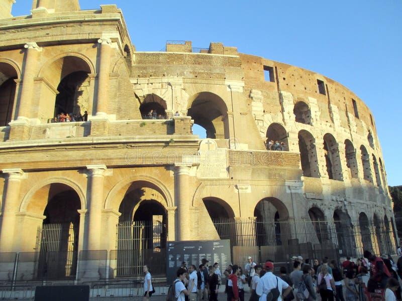 Anfiteatro de Roman Colosseum Italy Europe desde Roman Empire foto de archivo