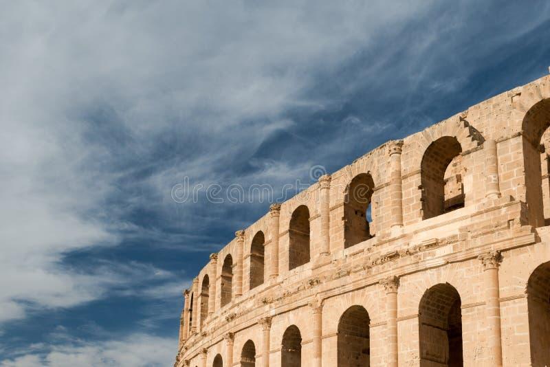Anfiteatro do EL Djem (3) fotografia de stock royalty free