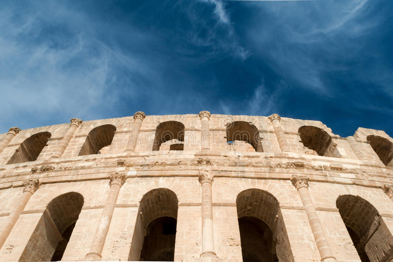 Anfiteatro do EL Djem (6) fotos de stock royalty free