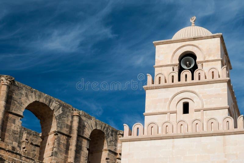 Anfiteatro do EL Djem (2) imagem de stock royalty free