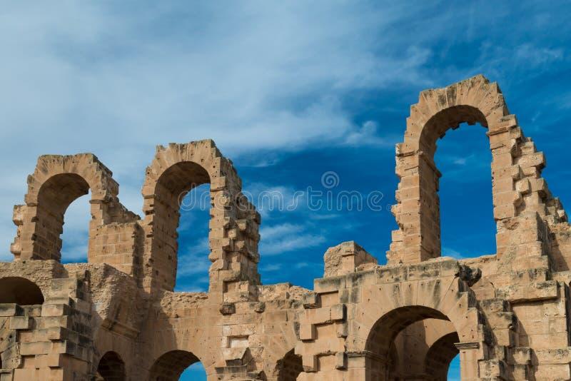 Anfiteatro do EL Djem (14) imagem de stock royalty free