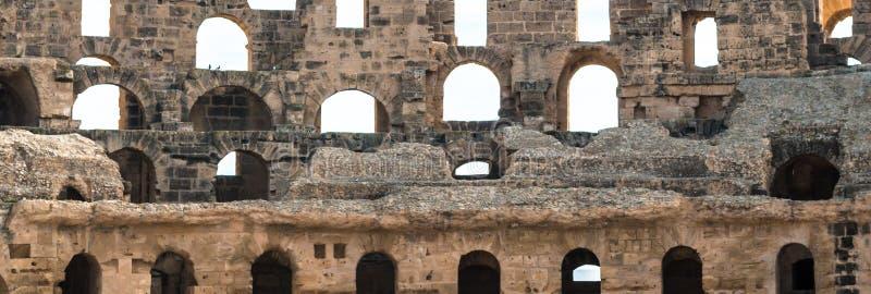 Anfiteatro do EL Djem (13) imagem de stock