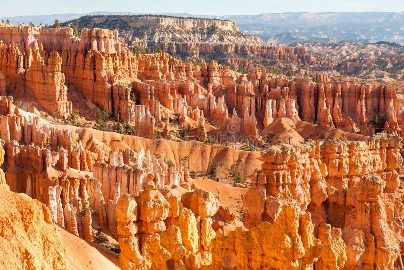 Anfiteatro do ponto da inspira??o com forma??es de pedra no nascer do sol, Bryce Canyon National Park, Ut?, EUA fotos de stock royalty free