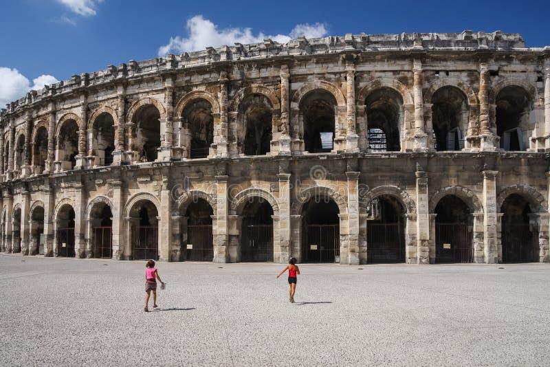 Anfiteatro em Nimes foto de stock royalty free