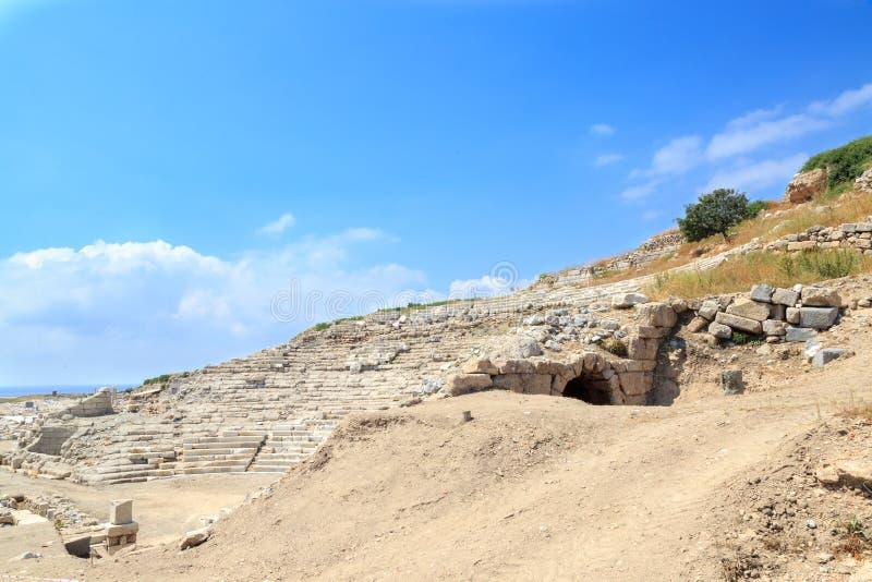 Anfiteatro en knidos en Datca, Turquía foto de archivo