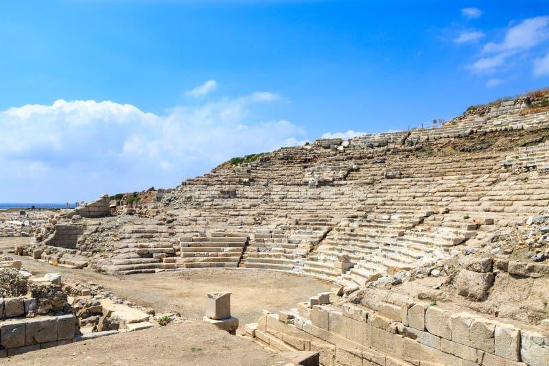 Anfiteatro en knidos en Datca, Turquía fotos de archivo libres de regalías