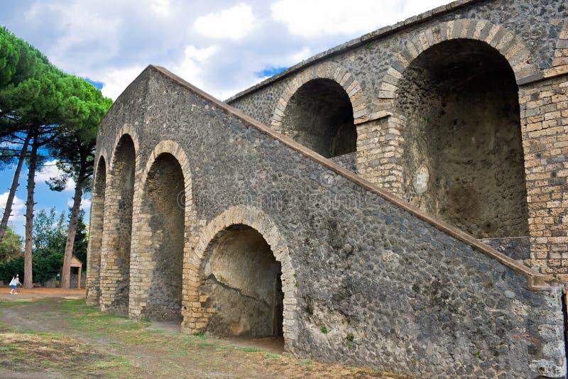Anfiteatro en Pompeii imagen de archivo libre de regalías