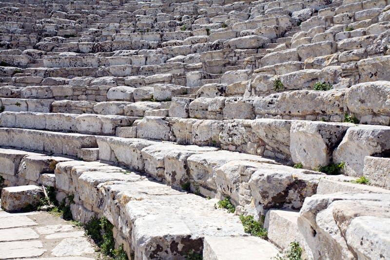 Anfiteatro grego fotografia de stock royalty free