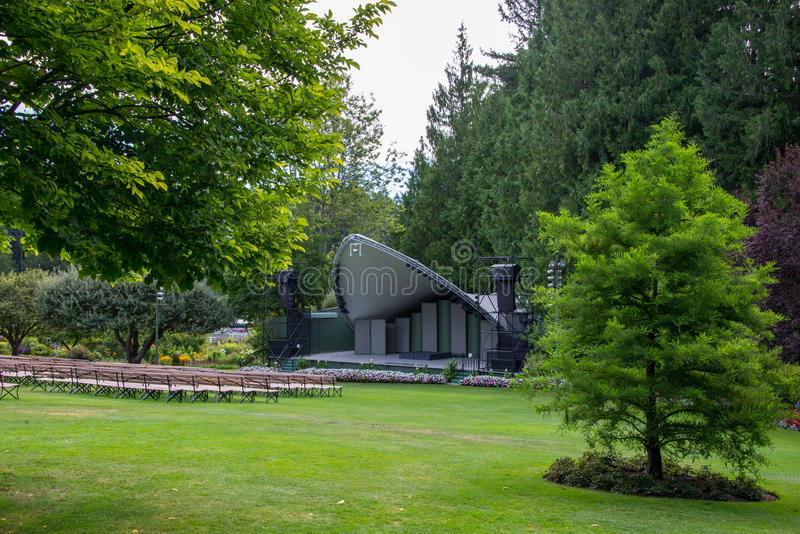 Anfiteatro, jardins de Butchart, Victoria, BC, Canadá fotografia de stock royalty free