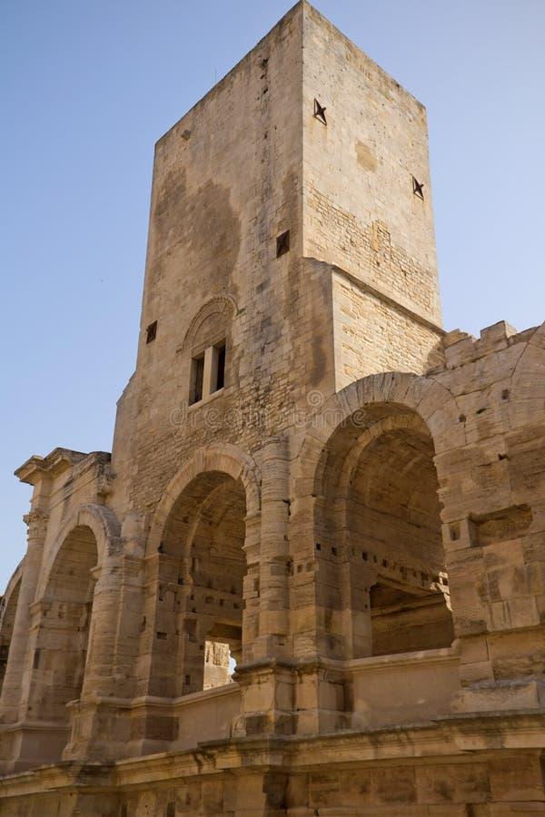 Anfiteatro romano (Arles, Francia) fotografia stock libera da diritti