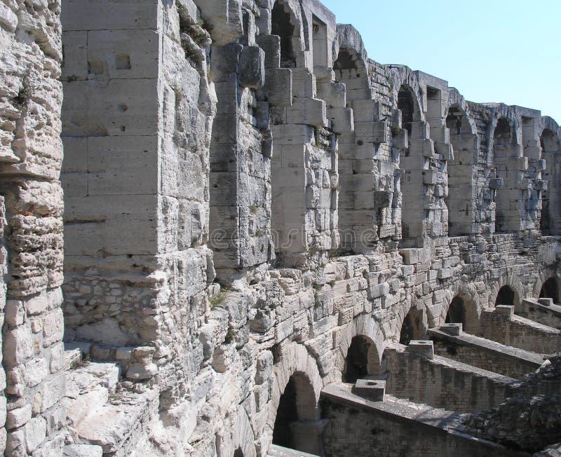 Anfiteatro romano, Arles, Francia immagine stock libera da diritti
