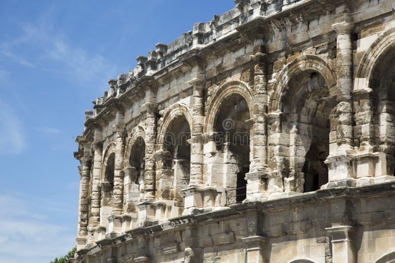 Anfiteatro romano em Nime, França fotografia de stock royalty free