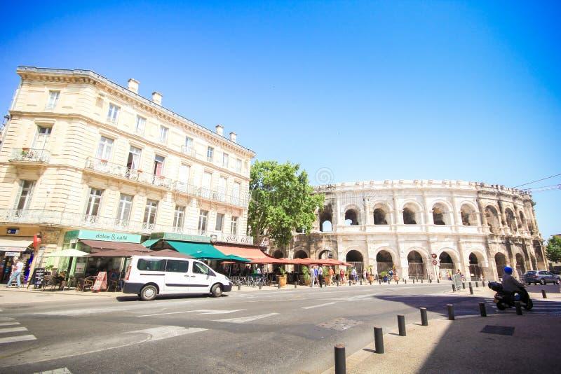Anfiteatro romano em Nimes, Provence foto de stock royalty free