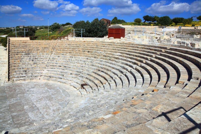 Anfiteatro romano a Kourion fotografie stock libere da diritti
