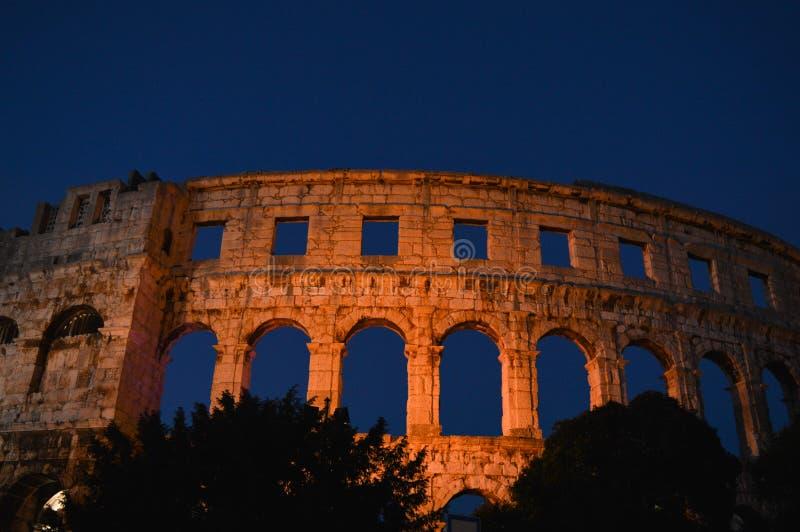 Anfiteatro romano nos Pula, Croácia imagem de stock