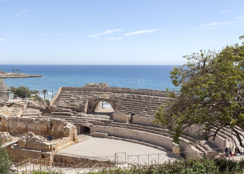 Anfiteatro romano, Tarragona fotos de stock