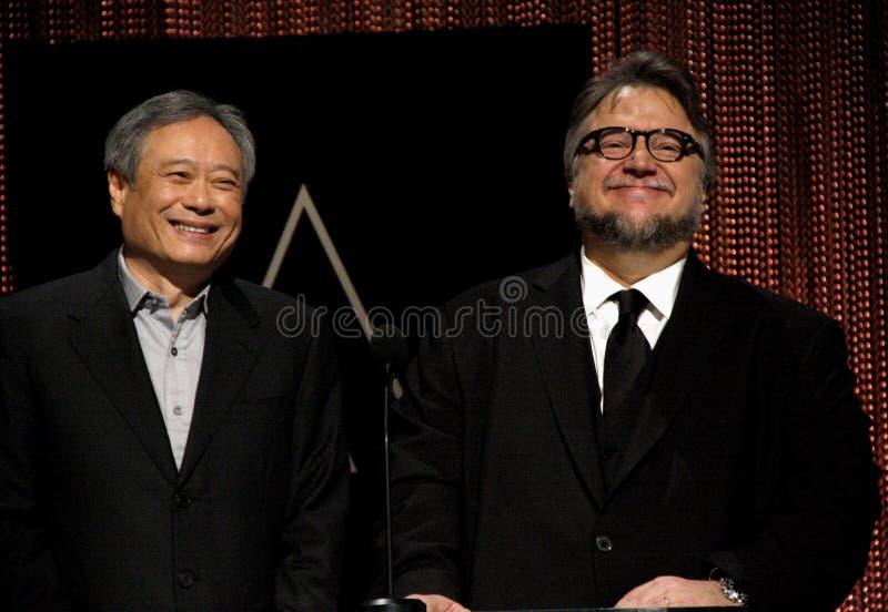 Ang Lee e Guillermo del Toro immagini stock