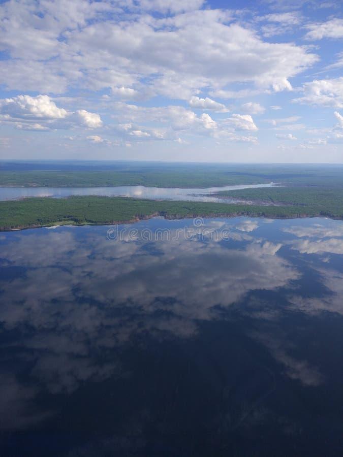 Angara and sky stock image